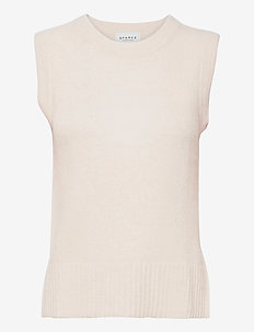 LISSIE KNITTED VEST - knitted vests - raw white