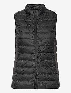 PYLLA LGT WGT DOWN WAISTCOAT - puffer vests - black