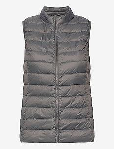 PYLLA LGT WGT DOWN WAISTCOAT - puffer vests - charcoal