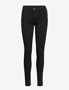 CHRISTA BLACK PANTS - spodnie rurki - black