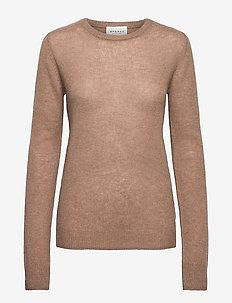 PURE CASHMERE O-NECK PULLOVER - tröjor - acorn brown