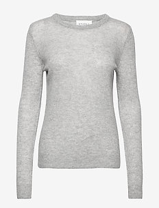 PURE CASHMERE O-NECK PULLOVER - kaszmir - grey mel.