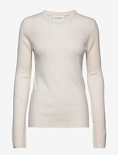 PURE CASHMERE O-NECK PULLOVER - kashmir - off white