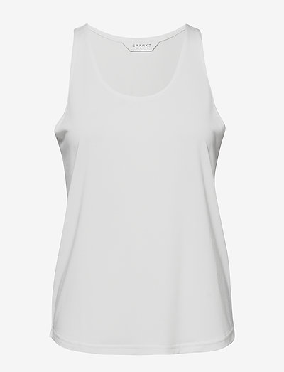 TRILLE TOP - ermeløse topper - off white