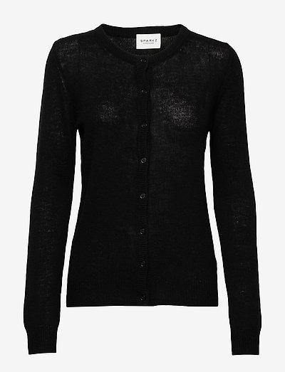 PURE CASHMERE O-NECK CARDIGAN - cardigans - black