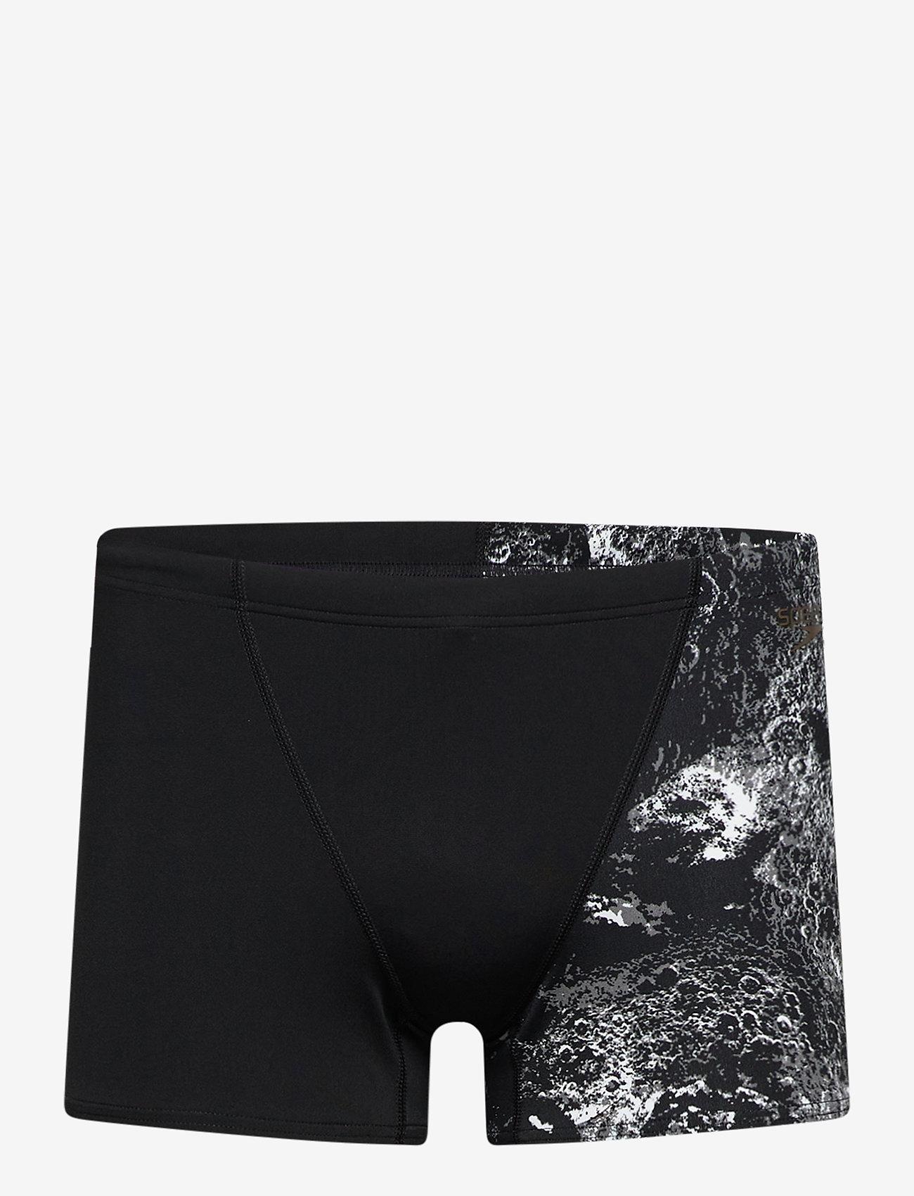 "Speedo - SPEEDO ALLOV DIGI V AQUASHORT NAV/ORA 2(28"") - shorts - black/usa charcoal/white - 0"