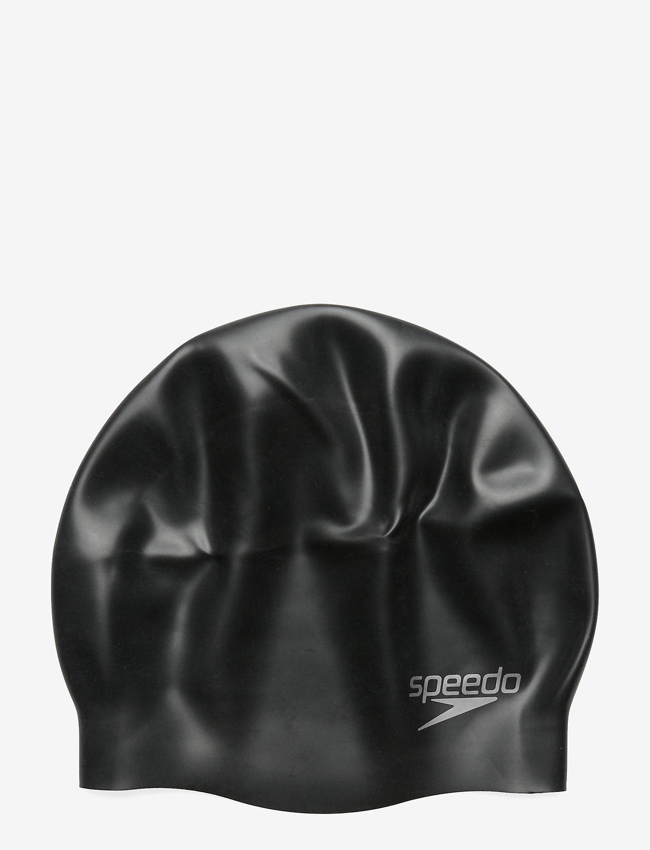 Speedo - SPEEDO SILICON MOULDED CAP AU, WHI MOP - muut - black - 0