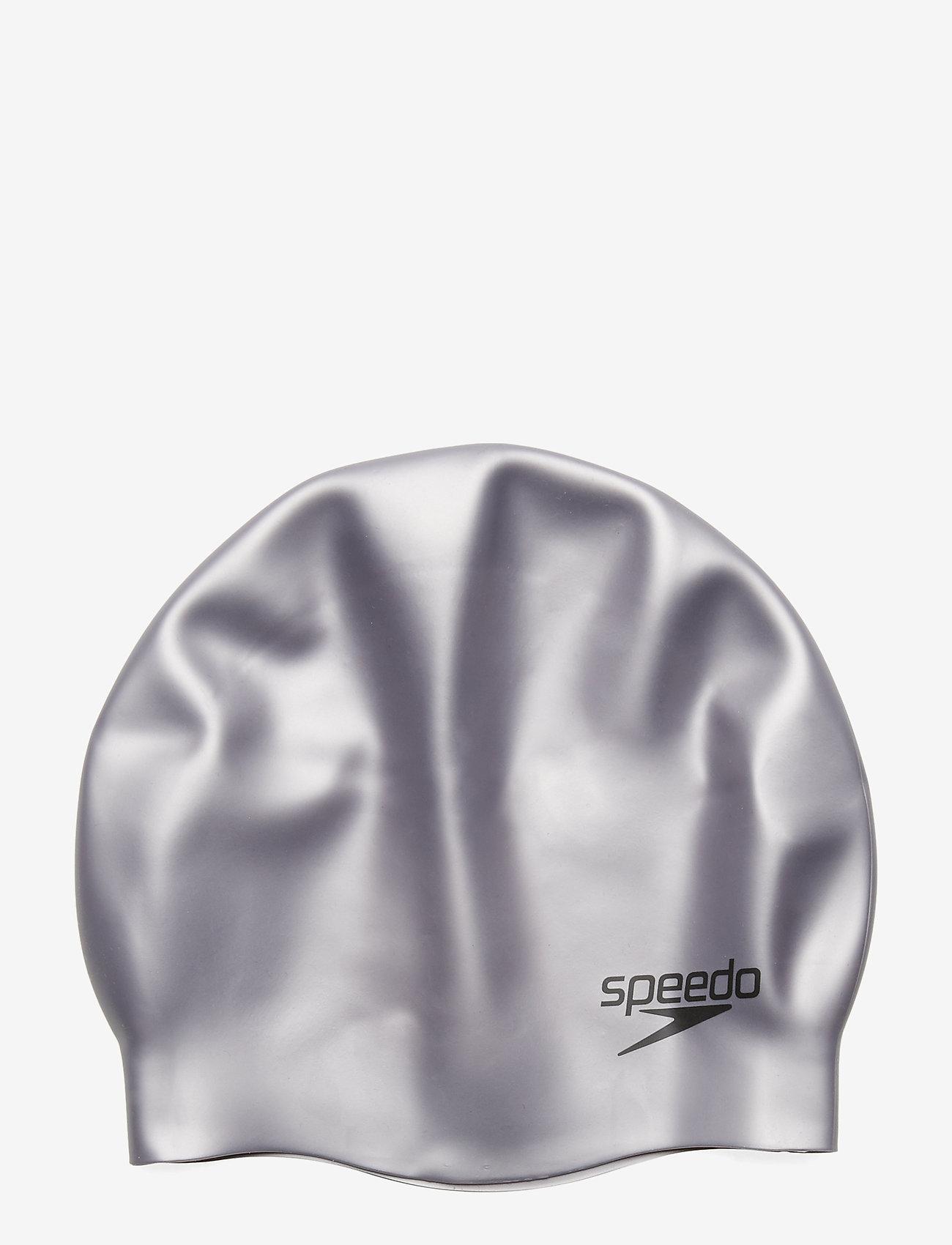 Speedo - SPEEDO SILICON MOULDED CAP AU, WHI MOP - muut - chrome - 1