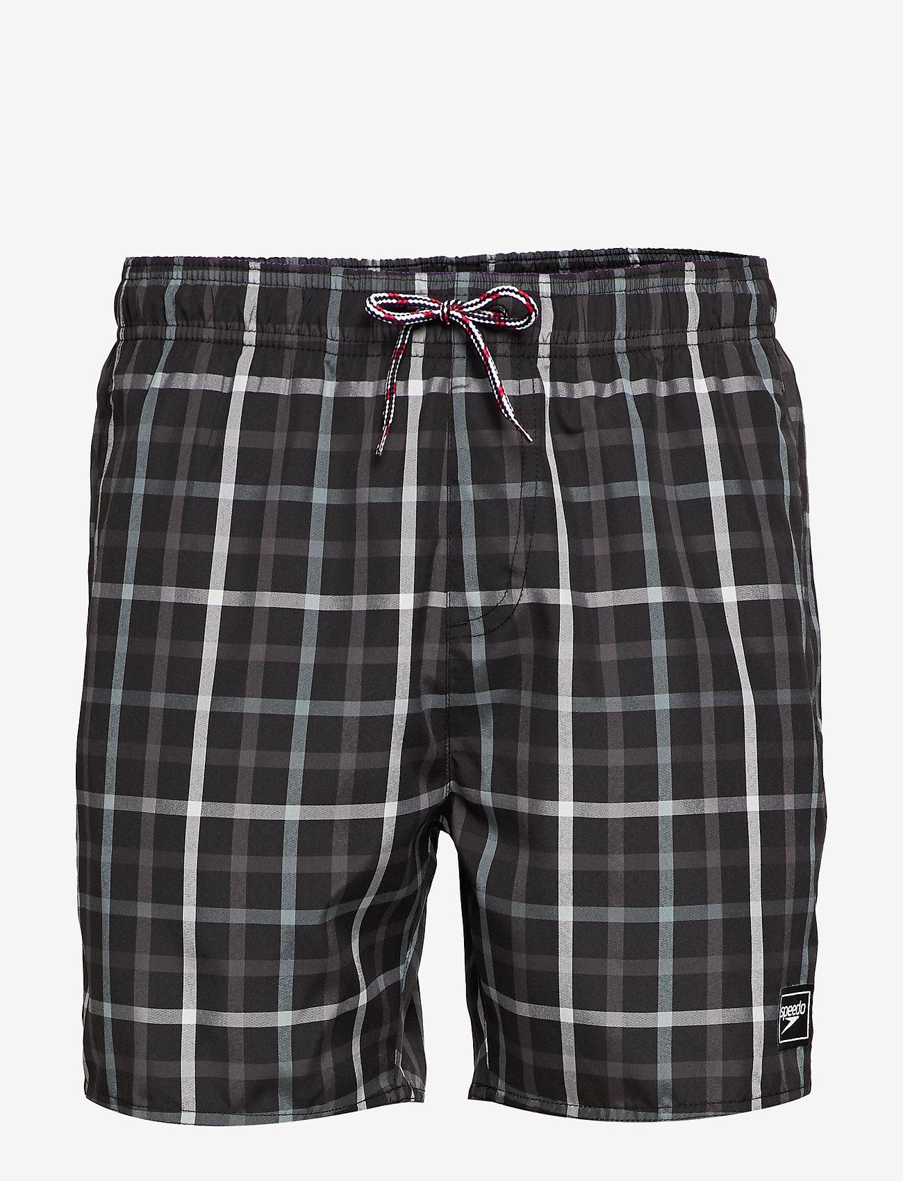 "Speedo - Check Leisure 16"" Watershort - shorts - black/oxid grey/usa charcoal - 0"