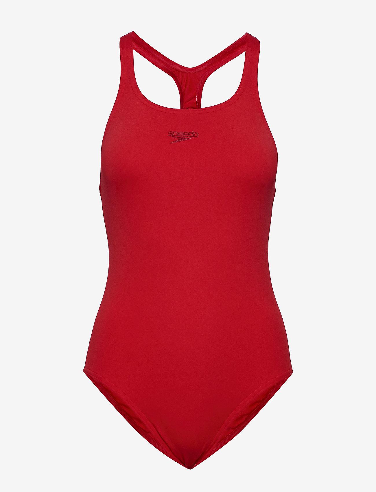 Speedo - Essential Endurance+ Medalist - sportsbadetøy - fed red - 0