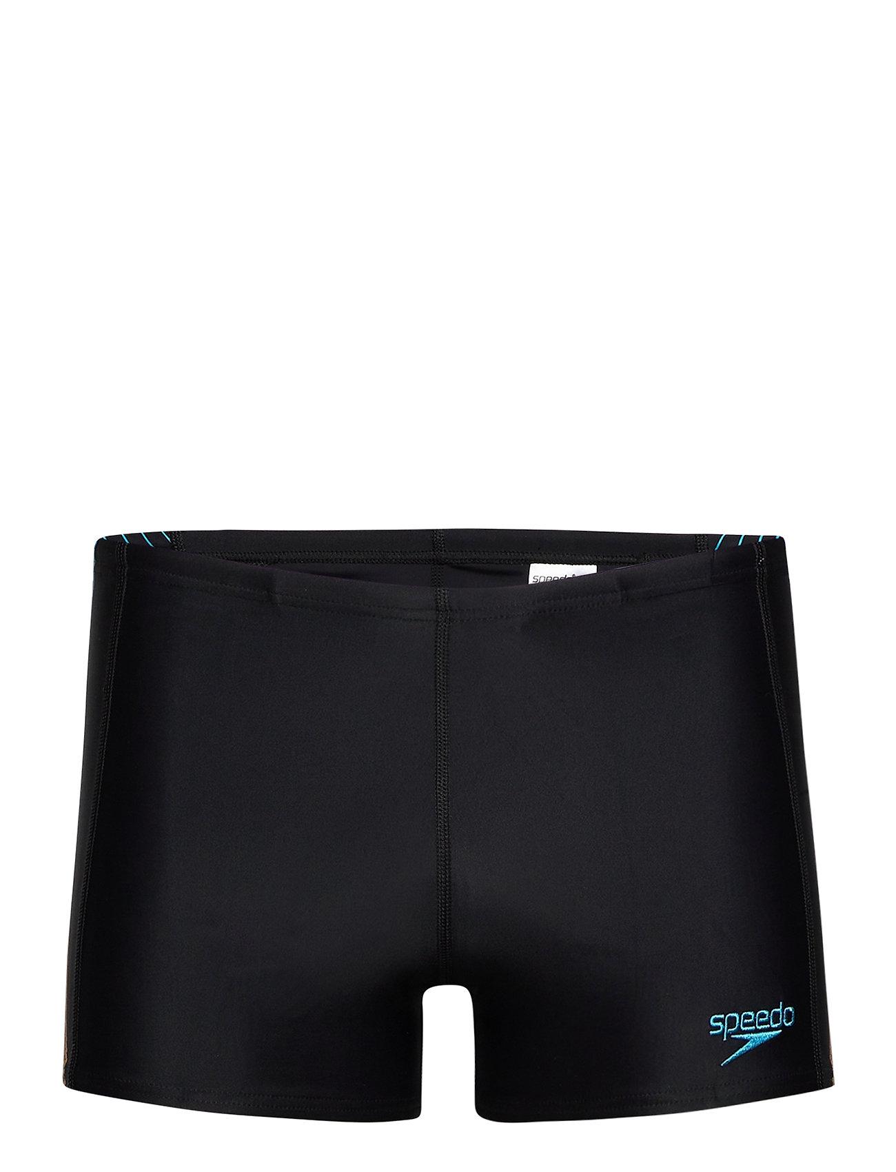 Image of Speedo Logo Endurance Aquashor Black/Turquo 8 Swimwear Briefs & Speedos Sort Speedo (3458925905)