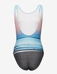 Speedo - Digital Placement U-Back 1 Piece - sportsbadetøy - black / white / sky blue / cornwall / blue bay / powder blush - 1