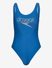 Speedo - STRIPE LOGO DEEP U-BACK 1P - sportsbadetøy - bondi blue/white/black - 1