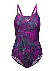 SPEEDO COSMIC POINT ALLOVER TH - NAVY / DIVA  / STELLAR GREY
