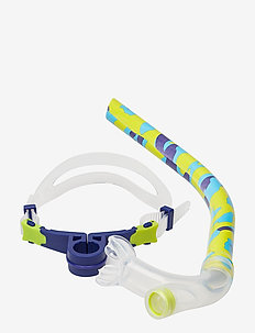 SPEEDO CENTER SNORKEL AU, GREY/RED - MASH UP TURQUOISE/LIME PUNCH