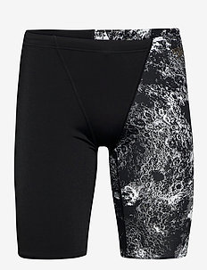 Allover V-Cut Jammer - uimashortsit - black/usa charcoal/white