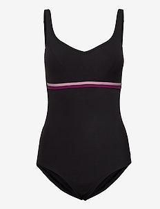 SCULPTURE CONTOURLUXE 1 AF - sportsbadetøj - black/dusky orchid/deep plum