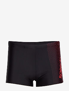 "SPEEDO GALA LOGO AQUASHORT AM BLACK/WHITE 2(28"") - BLACK / LAVA RED"