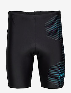 "SPEEDO GALA LOGO JAMMER AM BLACK/BLUE 1(26"") - kąpielówki - black / pool"