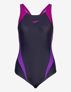 Splice Muscleback - sport zwemkleding - true navy/violet/diva