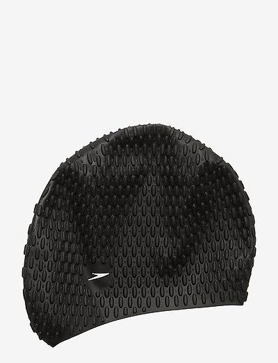 SPEEDO BUBBLE CAP XU, ASSORTED - akcesoria do pływania - black