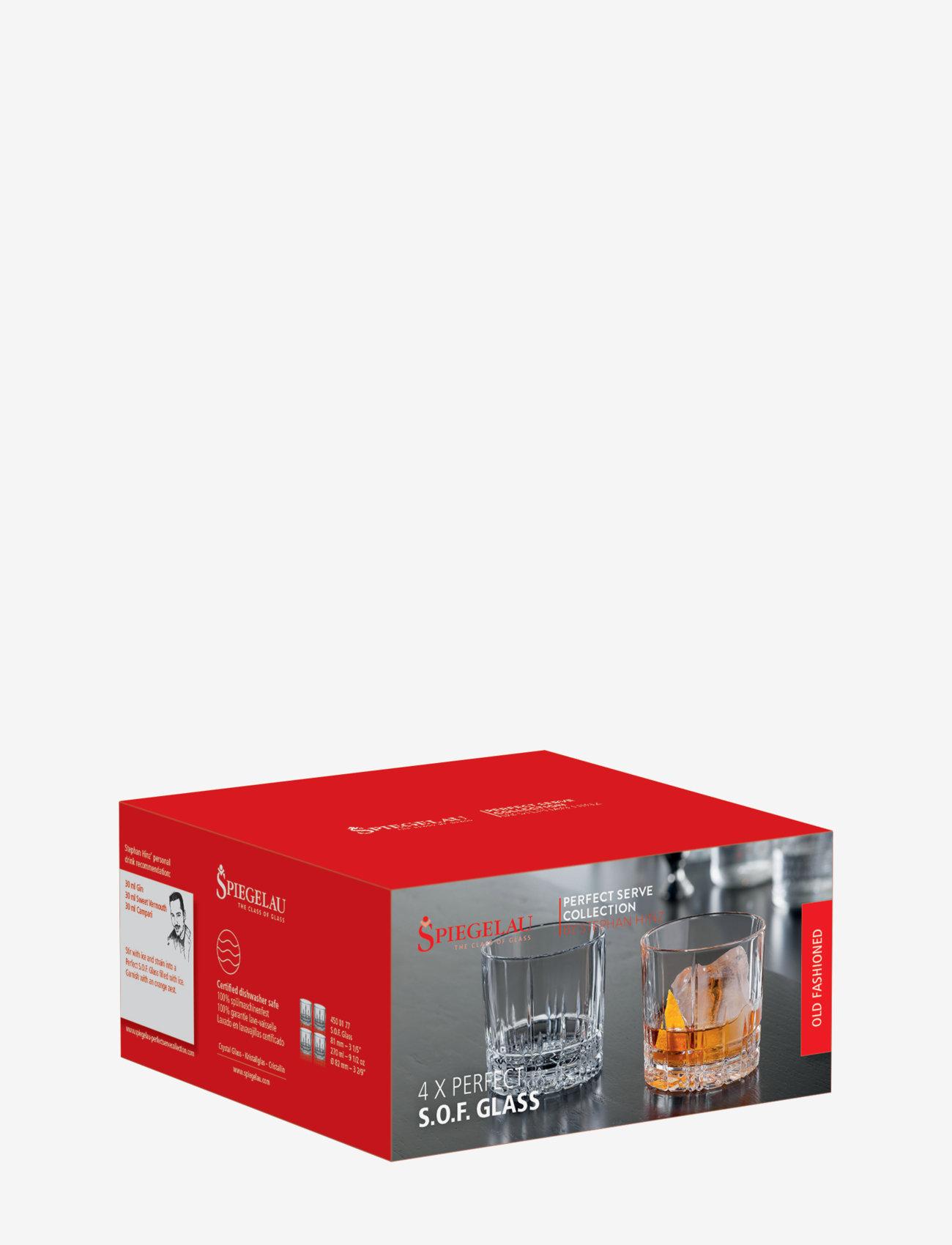 Spiegelau - Perfect Serve S.O.F. 27 cl 4-p - whiskyglass & cognacglass - clear glass - 1
