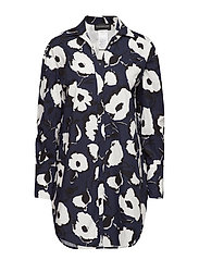 CENTRO - NAVY FLORAL PRINT DRESS