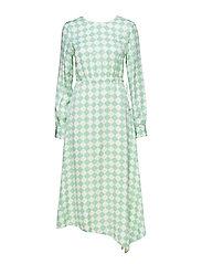 MINNIE - PASTEL GREEN RHOMBS DRESS