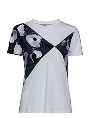 BENARES - NAVY FLOWERS EMBROIDERY T-SHIRT