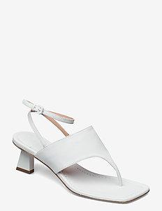 CAPRERA - højhælede sandaler - white