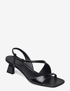 NOGAL - højhælede sandaler - black