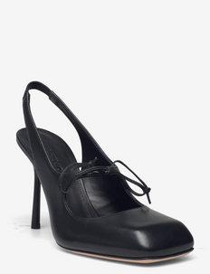 SAETTA - sling backs - black
