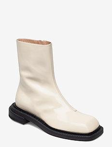 AIELLO - flade ankelstøvler - vanilla