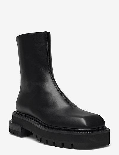 RETINA - platta ankelboots - black