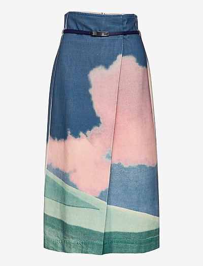 FACHIRO - denim skirts - ivory