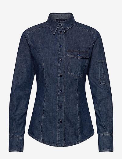 RIETI - jeansskjortor - midnightblue