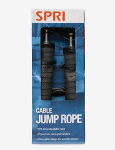 SPRI CABLE JUMP ROPE - jump ropes - black