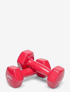SPRI DUMBBELLS VINYL 2,7kg/6lb PAIR - vekter - red