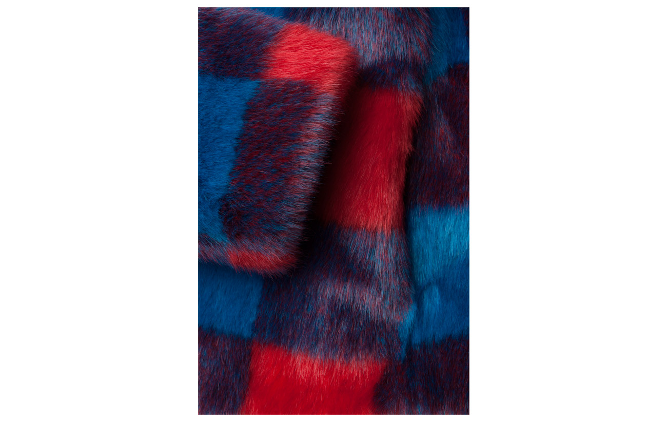 Polyester Stand Doublure Blue Modacrylic Jacket Intérieure 100 red Sofia Équipement 0q01wvxR