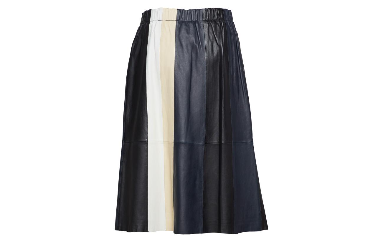 black De Mouton Polyester Eliana Intérieure vanilla Stand Navy Peau 100 beige Doublure Skirt Équipement 7OqqtZ