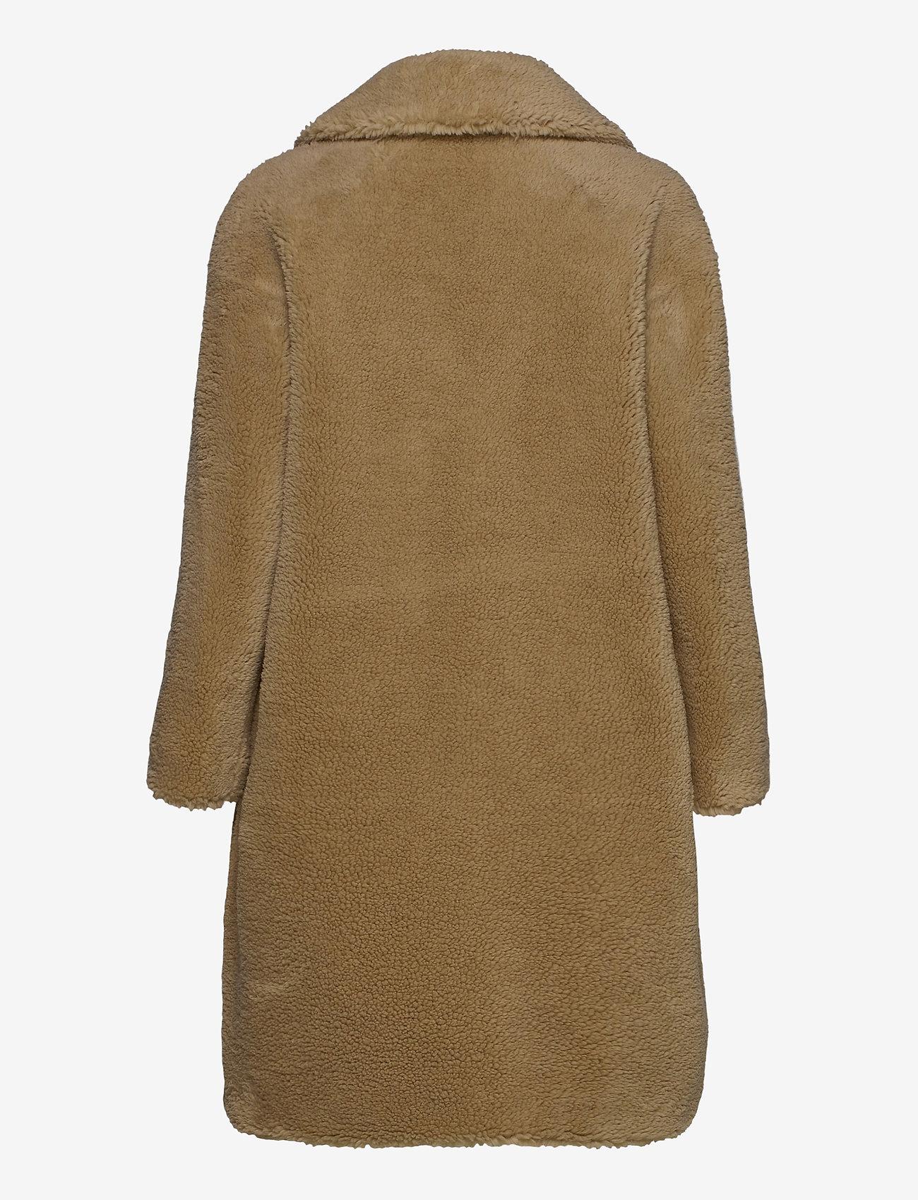 Stand Studio - Camille Cocoon Coat - faux fur - beige - 1