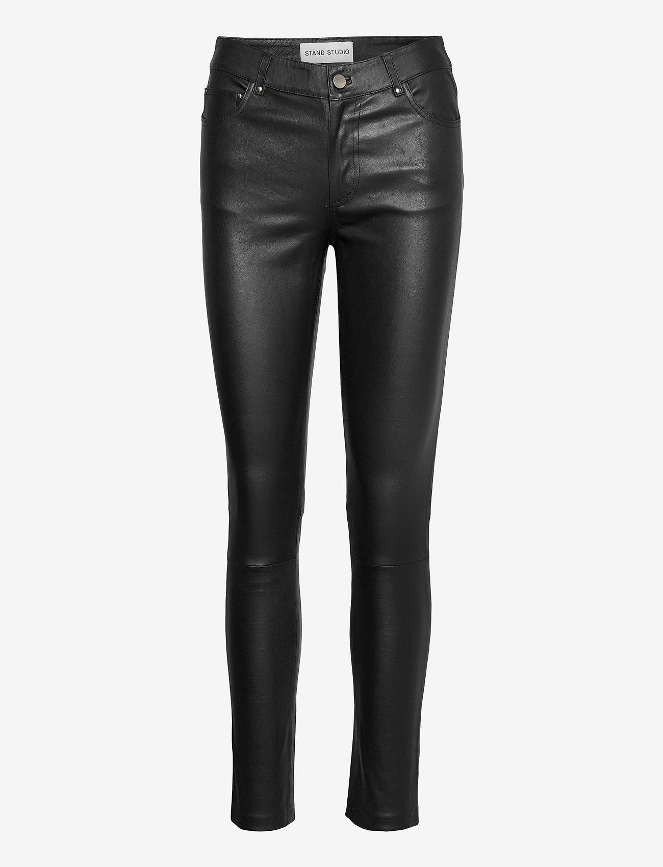 Stand Studio - Stella Jeans II - læderbukser - black - 0