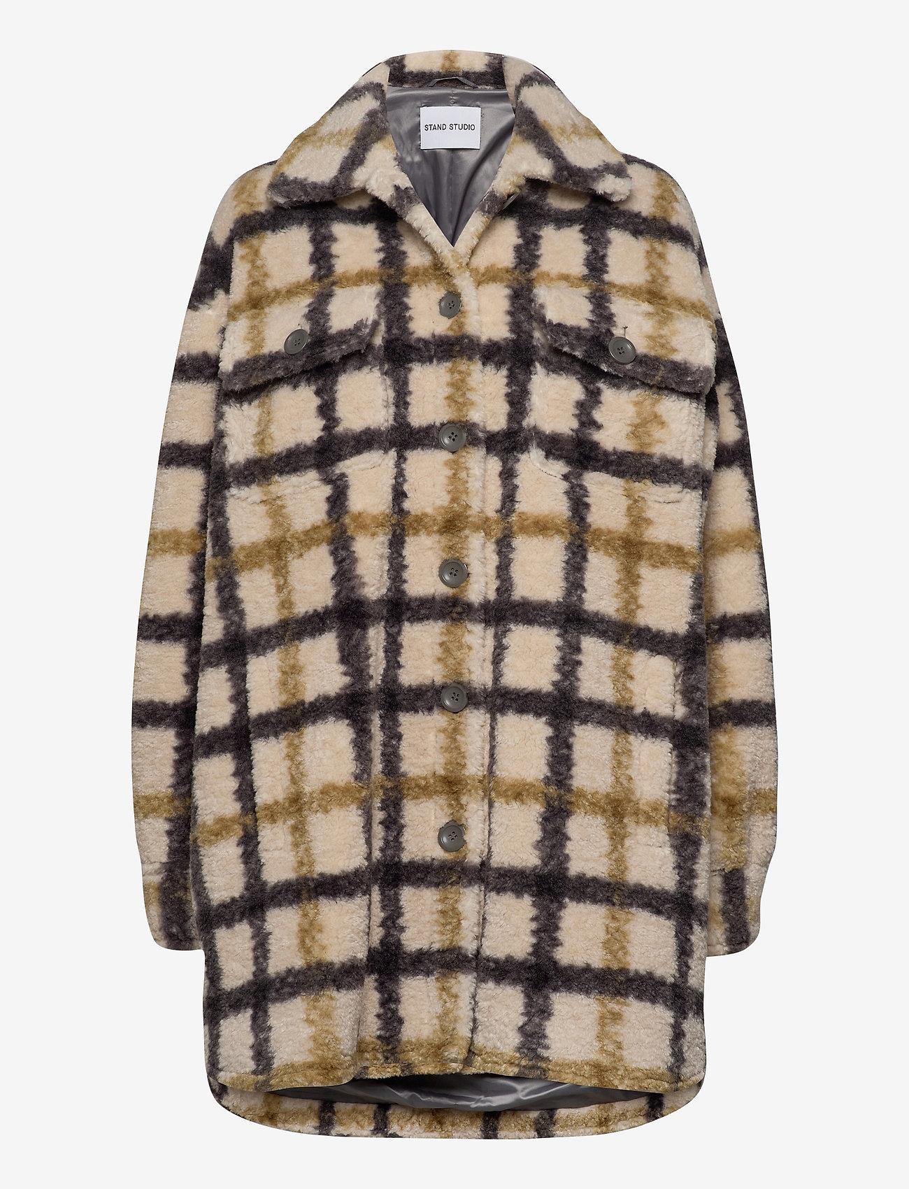 Stand Studio - Sabi Jacket - wool jackets - check - 0