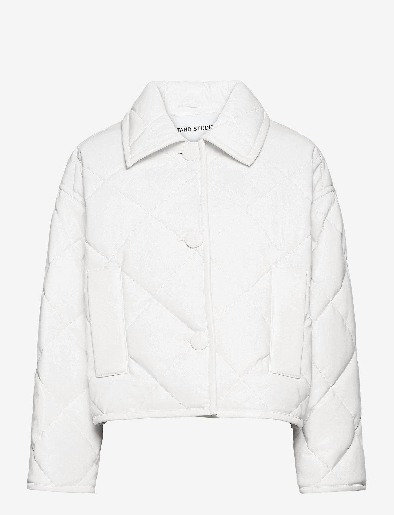 Stand Studio - Jacinda Puffy Jacket - steppjacken - white - 0