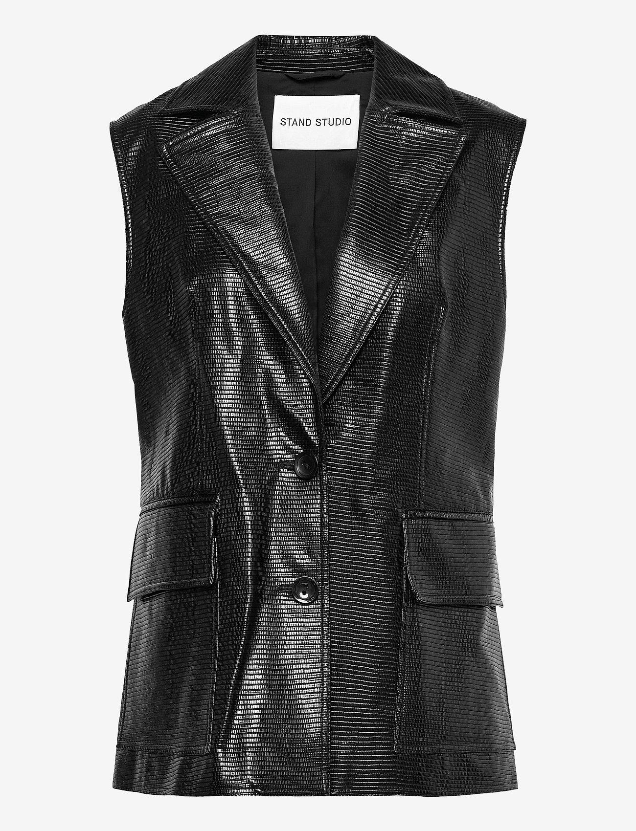 Stand Studio - Melba Vest - puffer vests - black - 0
