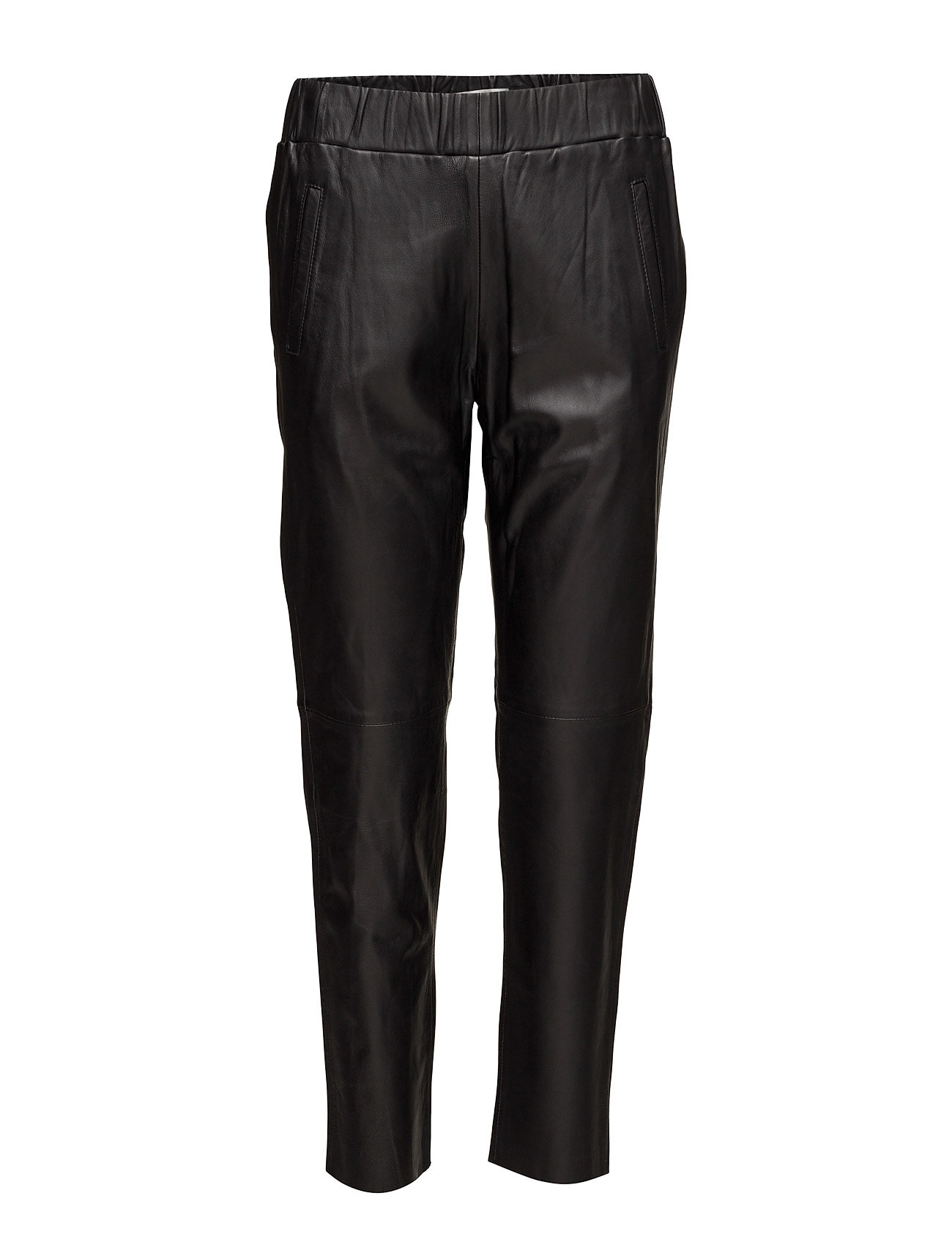 Image of Noni Joggers Ii Leather Leggings/Bukser Sort Stand (3240451885)