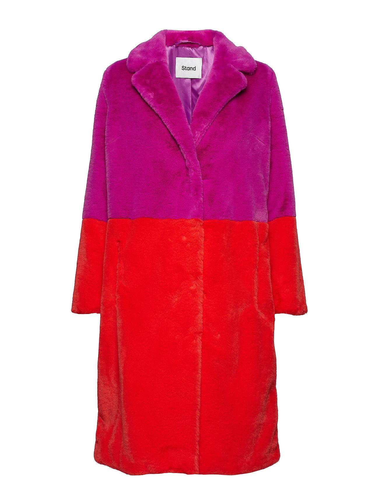 Stand Maribel Coat - LILAC/ACID RED
