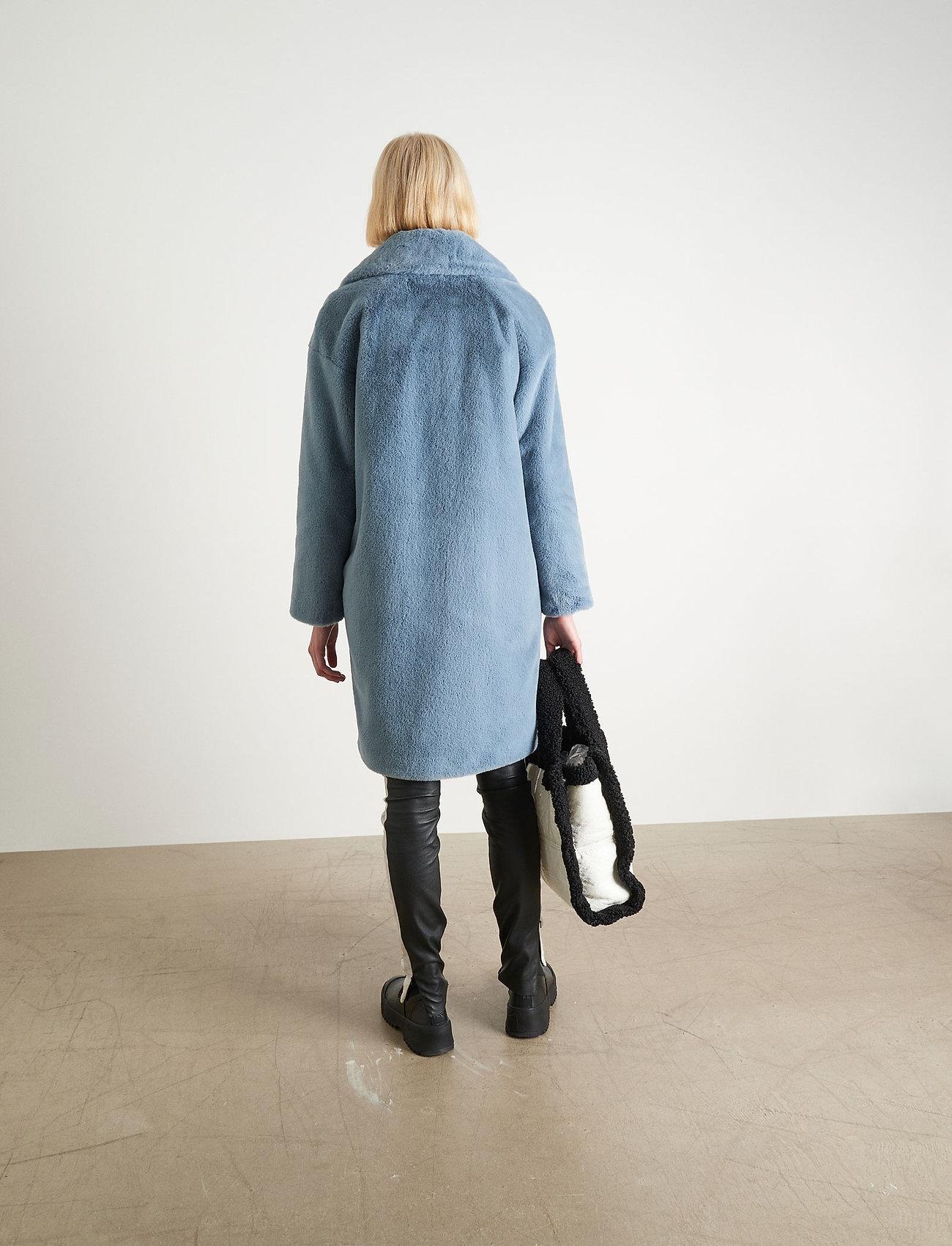 Stand Studio Camille Cocoon Coat - Bovenkleding STEEL BLUE