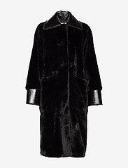 Stand Studio - Pamella Coat - faux fur - black - 2
