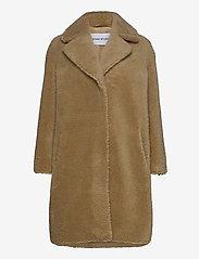 Stand Studio - Camille Cocoon Coat - faux fur - beige - 0